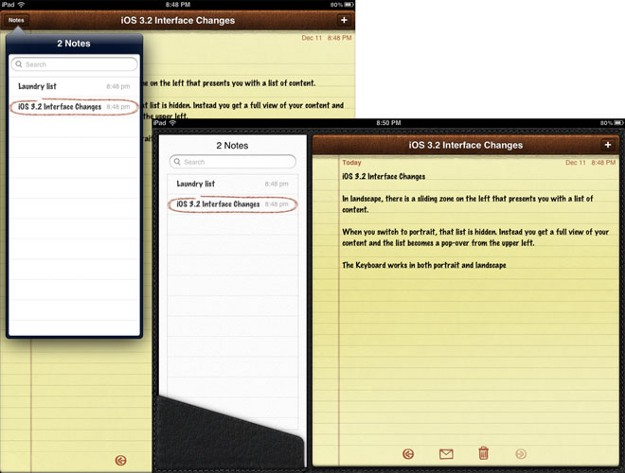 iPad Notes App UX