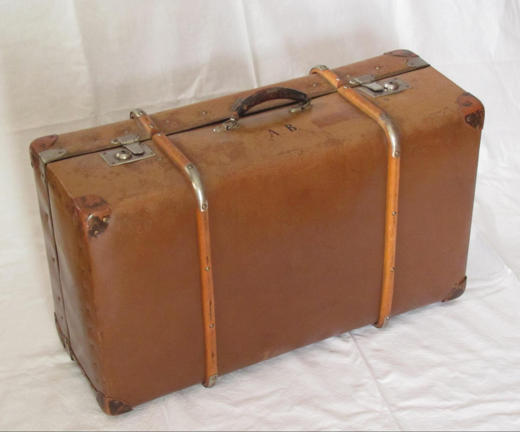 A traditional suitcase